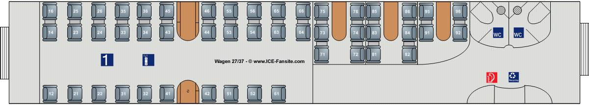 sitzplätze im ice fenster